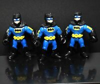 "LOT OF 3 IMAGINEXT DC SUPER FRIENDS BLUE BATMAN ACTION FIGURE 3"" #KD5"