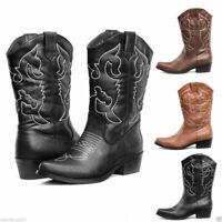 FREE SHIP SheSole Womens Cowboy Cowgirl Boots Western Wedding Dress Shoes