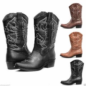 FREE SHIP Womens Cowboy Cowgirl Boots Western Wedding Dress Wide Calf Ladie Shoe