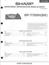 Sharp Service Manual para rp-7700 h.