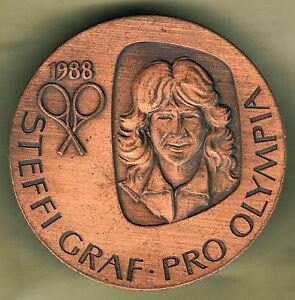 SUMMER OLYMPIC GAMES SEOUL 1988 - STEFFI GRAF WOMAN TENNIS CHAMPION BRONZE MEDAL