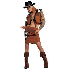 Cowgirl Costume Ladies Womens Fancy Dress Wild West Cowboy Outfit Western Rodeo