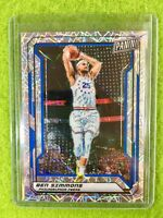 BEN SIMMONS PRIZM CARD JERSEY #25 SP 76ers /99 REFRACTOR 2019 National VIP PRIZM