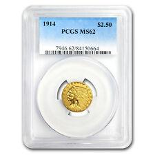 1914 $2.50 Indian Gold Quarter Eagle MS-62 PCGS