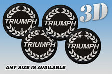 TRIUMPH domed wheel center cap decals emblems stickers 4 pcs ~ ANY SIZE ~ s/b