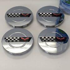 "4 Chrome wheel center caps fits: Chevy Corvette Camaro 91 - 96 ZR1 C4 Rims 3"""