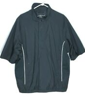 Footjoy Dryjoys Golf Jacket Mens XL Short Sleeve Pullover 1/2 Zip Shirt Black