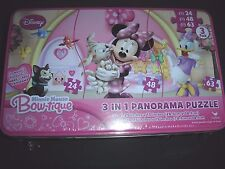 Disney Minnie Mouse Bow-tique 3 In 1 Panorama Puzzle Brand New