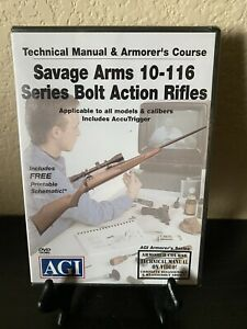 NEW AGI Savage Arms 10-116 Series Bolt Action Rifles DVD SEALED
