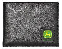 John Deere Men's Pebble Grain BiFold Passcase/Wallet - Black - NWT