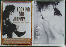 JOHNNY THUNDERS Looking For Johnny 2014 +Que Sera Sera 1985 POSTERS 59x40cm pair