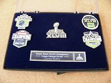 2014 SB Super Bowl 48 XLVIII Champions 5 pins set pin champs Seattle Seahawks w