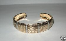 Sterling Silver Textured CZ Acents Cuff HSN Bracelet 23.2 Grams