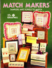 Jane Crabtree SAMPLERS & TOWELS to Match Cross Stitch 1986 Match Makers
