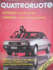 Quattroruote 374 1986 Alfa Romeo33 Turbodiesel, Jeep Cherokee Chief.Fiat Duna