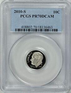 2010-S ROOSEVELT CLAD PROOF DIME 10c PCGS PR70DCAM