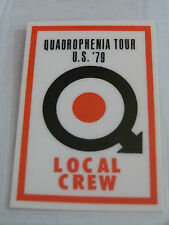 THE WHO Laminated Reproduction Backstage Tour Pass - QUADROPHENIA US TOUR 1979