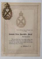 Orig. Auszeichnung 1896 Panzerschiff Wörth Deutsches Reich Marine Orden SELTEN