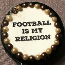 """""""Football Is My Religion"""" Retractable Badge/ID Holder"""