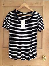 Zara Short Sleeve Striped Tops & Shirts for Women