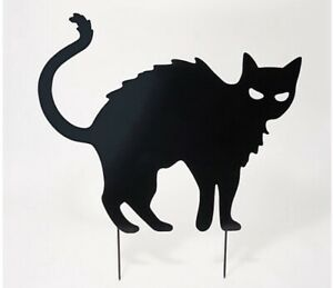 Martha Stewart Metal Standing Cat Silhouette Halloween