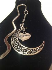 Daughter.. filligree book mark silver plated