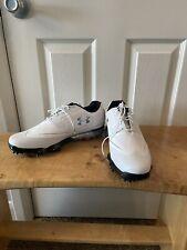 Under Armour UA Tour Tips Men's Golf Shoes Black White Sz 11