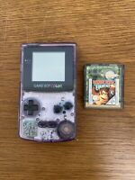 Retro Nintendo Gameboy Colour Atomic Purple + Donkey Kong Country