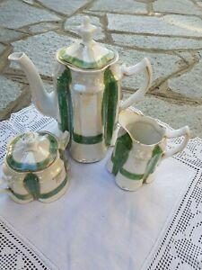 Antico set Ginori caffettiera lattiera zuccheriera decoro particolare bellissimo