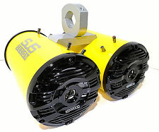 600 Watt Kenwood Yellow Bling Gloss Marine Wakeboard Tower Speakers SJS Dezign