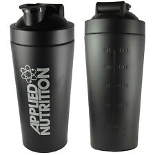 Applied Nutrition Stainless Steel Protein Shaker Bottle 750ml Black Shaker