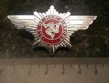Very Rare Isle of Man Airport Police Uniform Cap Badge. Constabulary Fire Force.