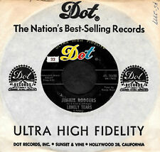 """JIMMIE RODGERS """"LONELY TEARS/Face In A Crowd"""" DOT 45-16450 (1963) 45rpm SNGL"""