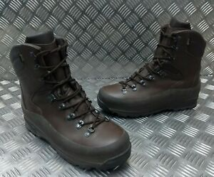 Genuine British Army Current Issue ITURRI Cold / Wet Weather Combat Boots Brown