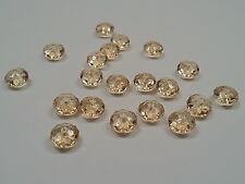 50 Transparent Acrylic Beads, Faceted Abacus, Coffee color, 8mm, Hole1.5 mm