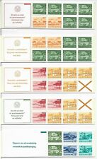 L3051 Suriname airmail definitives lot of 5 booklets MNH