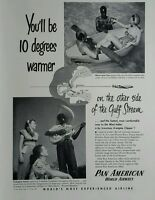Vintage 1950 Pan American Airlines Am Caribbean West Indies plane travel ad