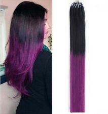 16''-20'' Easy Loop Micro Ring Beads Tipped Remy Human Hair Extensions 50S-200S