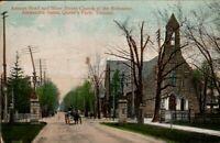 Vintage Postcard, Toronto Ontario, Avenue Rd. & Bloor St. Feat. Church, etc..