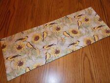 Sunflower bird decor handmade MINI table runner toilet tank topper floral Fall
