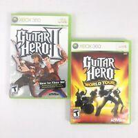 Guitar Hero II 2 - Guitar Hero World Tour - Xbox 360 Game Bundle Lot Set