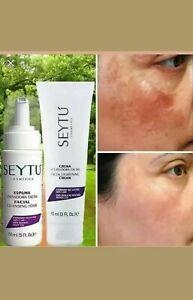 Seytu kit aclarador Espuma Limpiadora facial /Crema aclaradora 0 manchas 0 acne.