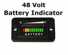 48V Volt EZGO ClubCar Yamaha Golf Cart Battery Indicator Meter Gauge Rectangle