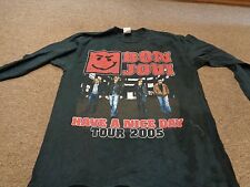 VTG BON JOVI 2005 TOUR T-SHIRT L MEN ROCK METAL RAP HIPHOP
