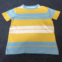 NEW RRP £20 Mini Boden Blue/YELLOW stripe Print                            (U10)
