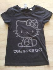 RAVISSANT T-SHIRT PRESTIGE HELLO KITTY GRIS & ARGENT TAILLE 9-10 ANS, NEUF