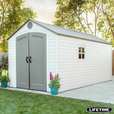 Lifetime 8ft x 15ft (2.4 x 4.5m) Storage Shed- 10 year warranty