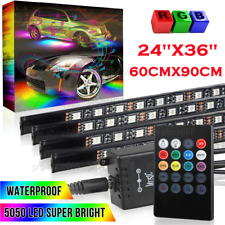 4pcs Multicolor LED Neon Glow Strip Under Car Light Tube Underbody Kit Fit Honda