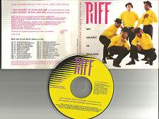 Men of Vizion RIFF My Heart is Failing Me w/7 INCH RADIO EDIT PROMO DJ CD Single