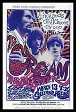 """Framed Vintage Style Rock n Roll Poster """"THE CREAM""""; 12x18"""